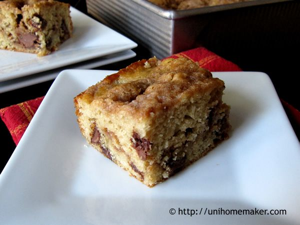 Chocolate Chip Coffee Cake | Breakfast/Brunch Recipes | Pinterest