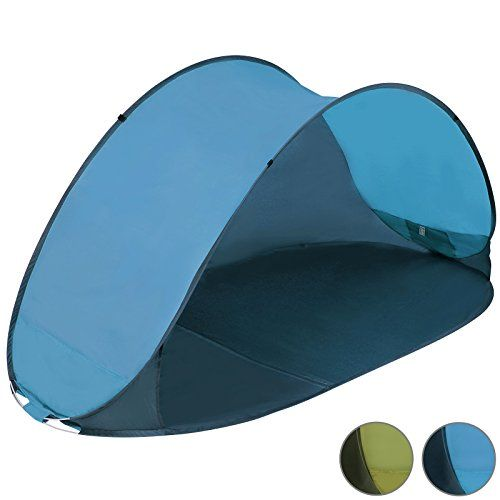 Jago Pop Up Beach Camping Tent with UV protection – Blue or Green (Blue)