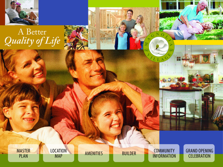 Magnolia Village Website Design created to also double as a touch-screen kiosk.