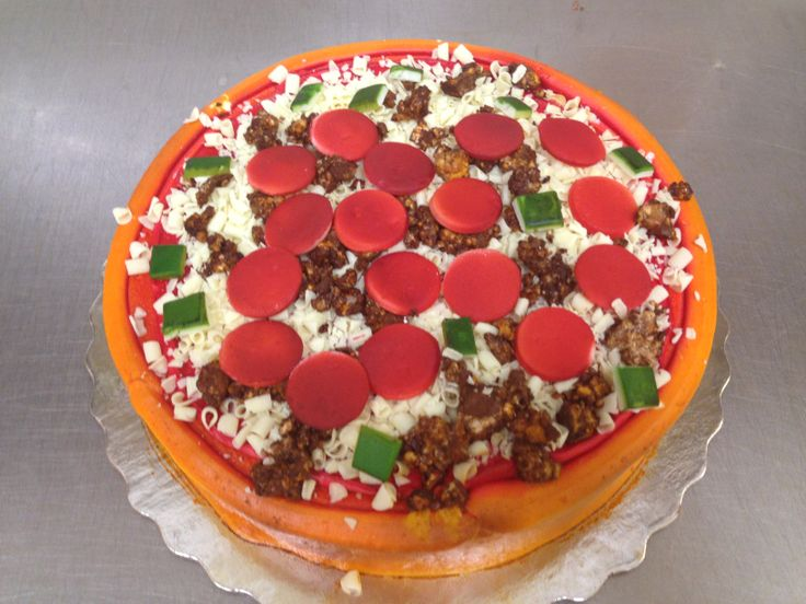 Cake Decorating Ideas Pizza : 22 best images about Cakes Shaped on Pinterest Football ...
