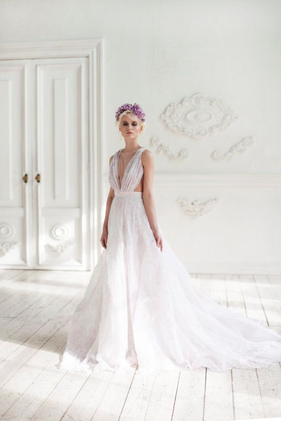 amalzeya chiffon wedding dress