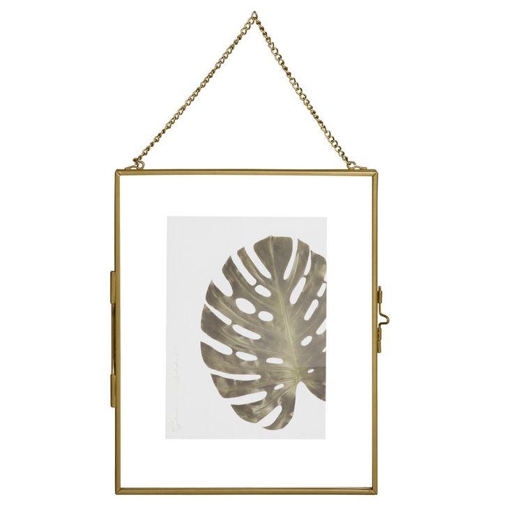 Cadre photo 13x18 à suspendre en verre et métal doré - Maisons du Monde
