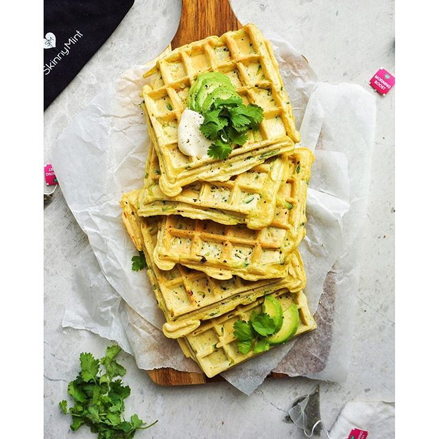 Switch up your weekend waffle game with a batch of these: Crispy chickpea & zucchini waffles, made…