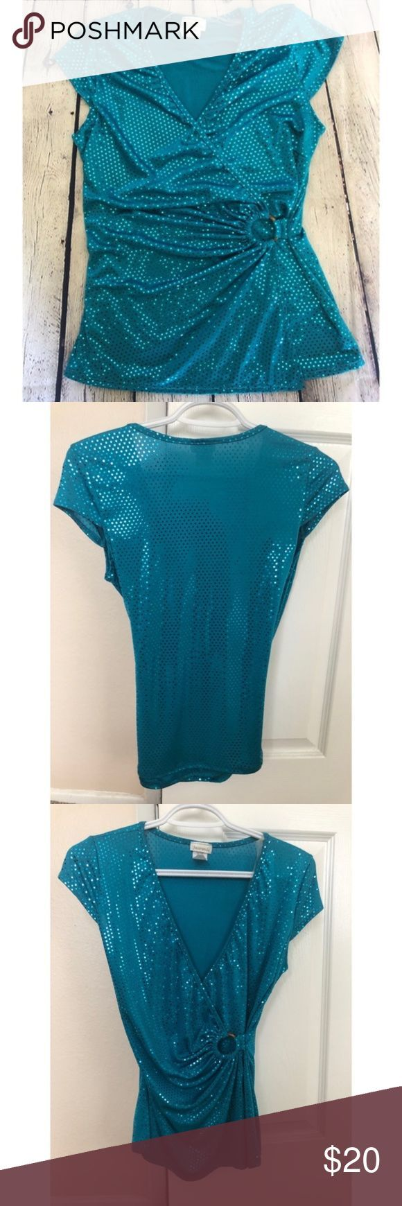 Sequin blue party top size Large Blue jacaranda party top, with beautiful detail…
