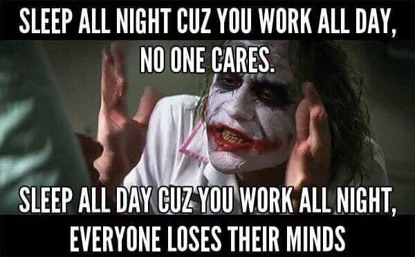 All sleep is good. Never wake a sleeping nurse.