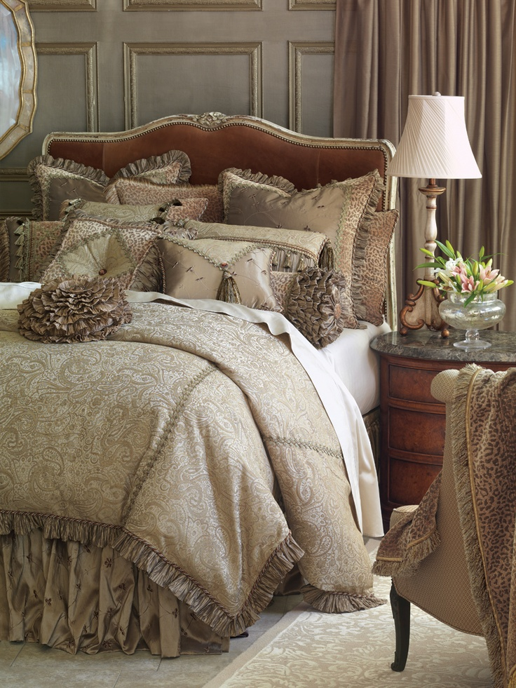 17 best images about bedding on pinterest quilt ea and for Opulent bedrooms