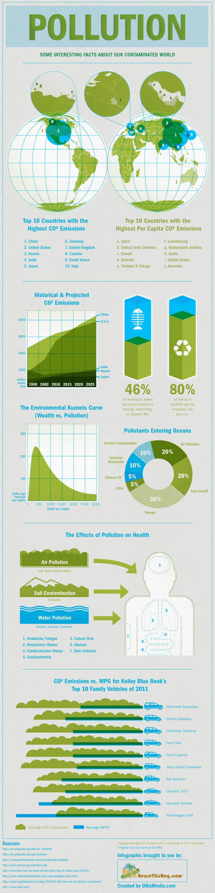 CO2 Emissions & Pollution | #infographics #environment
