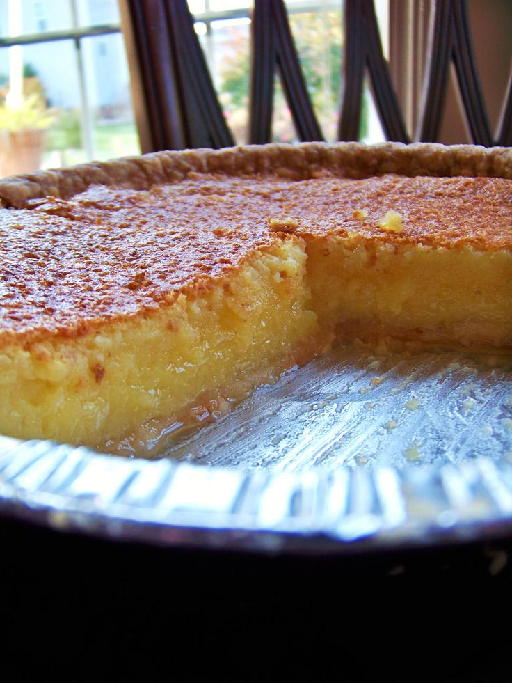 Lemon Chess pie my mother made this at The Front Porch