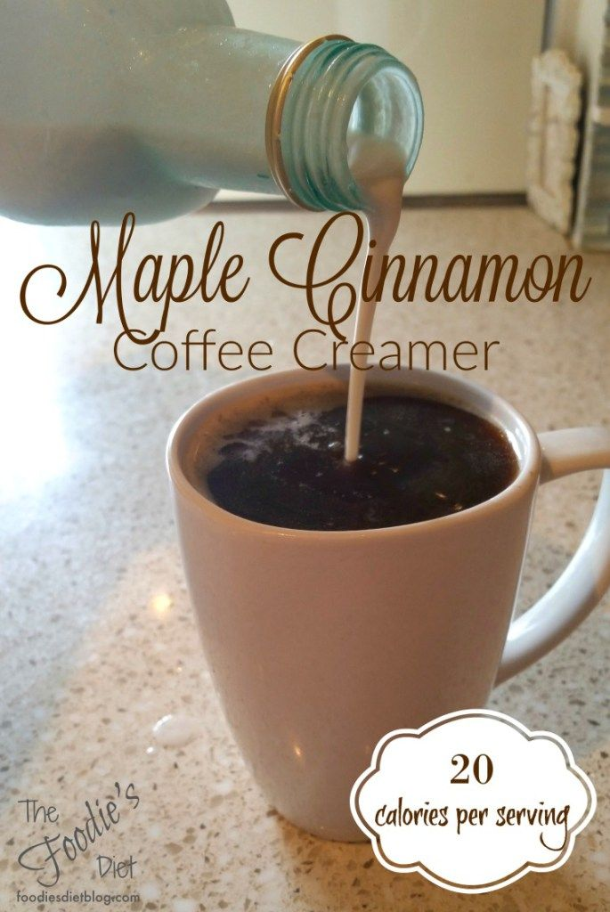 Low calorie Maple Cinnamon Coffee Creamer- use almond milk and maple syrup.  No stevia or Maple Extract.