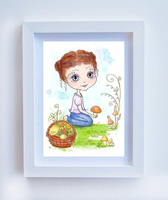 Children Decor Children Print Kids Decor Childrens by JuliaSpiri