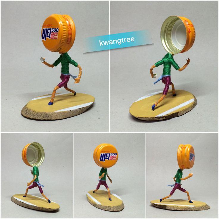 튀어!!! #병뚜껑공예 #병뚜껑아트 #뚜껑맨 #BottleCapArt #BottleCapCrafts #瓶盖 #艺术 #瓶盖人 #ビンの栓芸術 #피규어 #Figure #フィギュア #人偶 #手办 #미니어쳐 #Miniature #小模型 #ミニアチュア #달리기 #Running #跑步 #はしる #走る #ランニング #광동제약 #비타500 #골드
