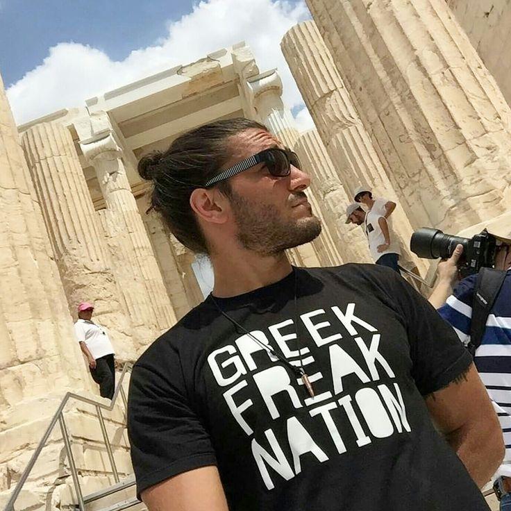 Ufc Elias Theodorou in Athens rocking the GFN shirt.