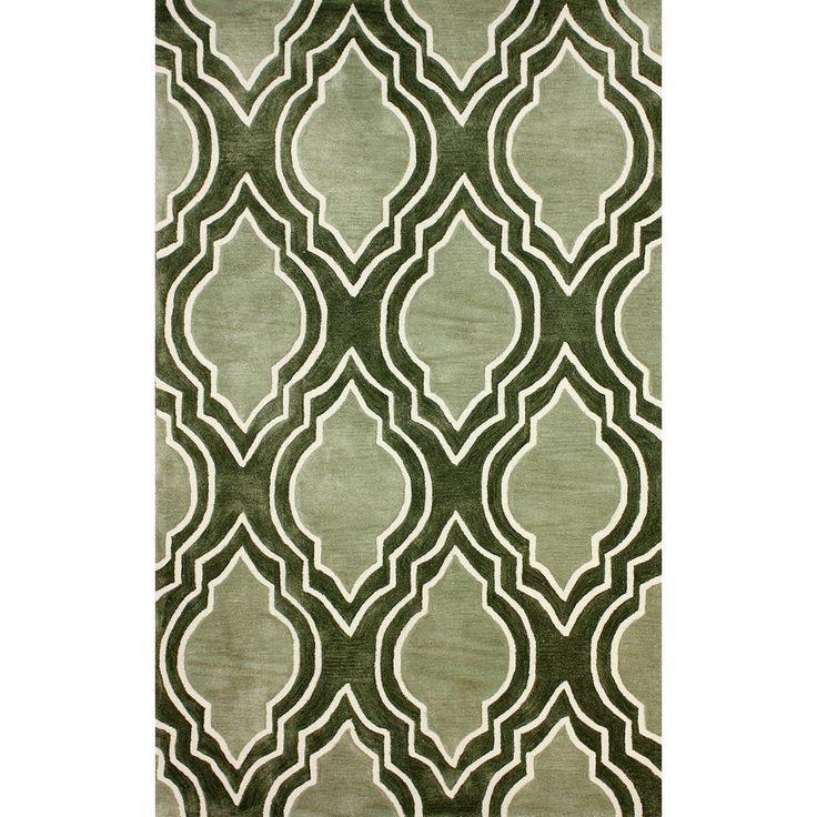 NuLOOM Hand Tufted Abrash Modern Moroccan Trellis Green Rug 76 X 9 RugsLiving Room
