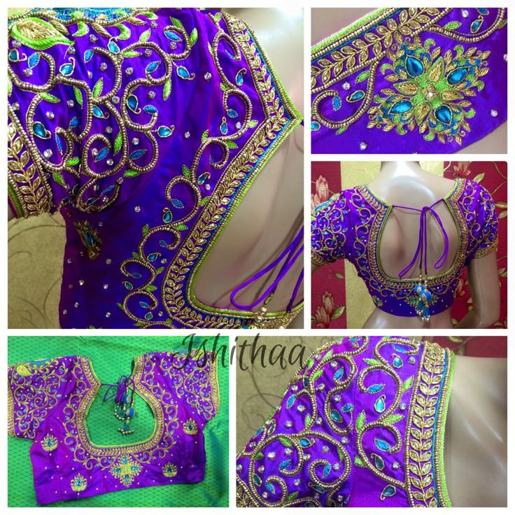 Purple ; blue ; green and gold ! And it s just a wow combination. ud83dude0dud83dude0d Bridal blouse designed at Ishithaa. Ping us on 9884179863 to book an appointment. ud83dude18ud83dude18ud83dude0dud83dude0d   ishithaa  bridal  chennai  tnagar 24 August 2016
