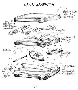 Club Sandwich, illustration by Yvette van Boven