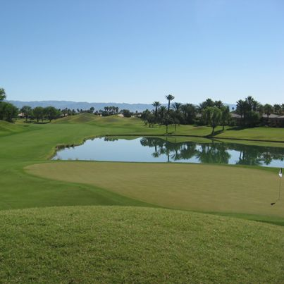 2013 Californian Desert Tour - 9th Hole at Nicklaus Tournament Course #California #Nicklaus #golf #teeoff #swing #golfer #golfcourse #golfing #golfclubs #holeinone #game #endurance #golftours #greengolftours