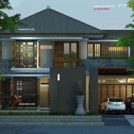 Desain Rumah Pojok, Desain Unik Tropis Modern, Type 600 M2