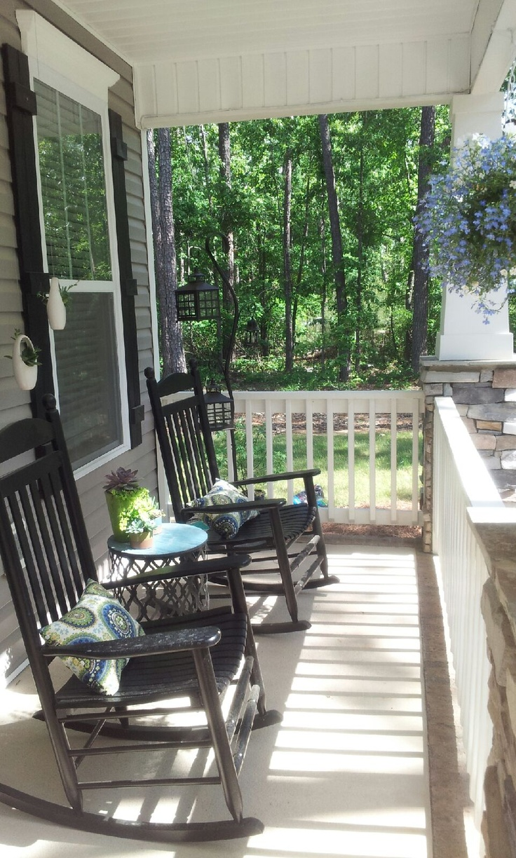 My Southern Front Porch Design The Black Rocking Chairs
