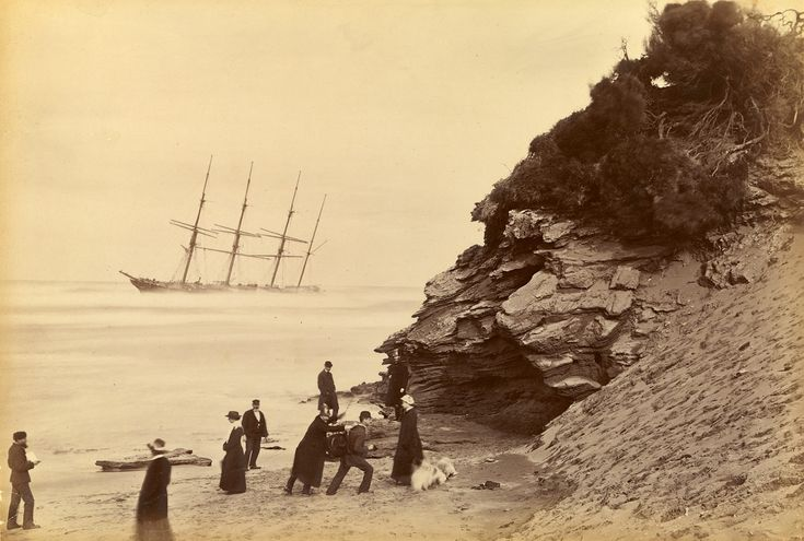 Fred Kruger  born Germany 1831, arrived Australia 1860, died 1888  Wreck of the ship George Roper, Point Lonsdale  1883