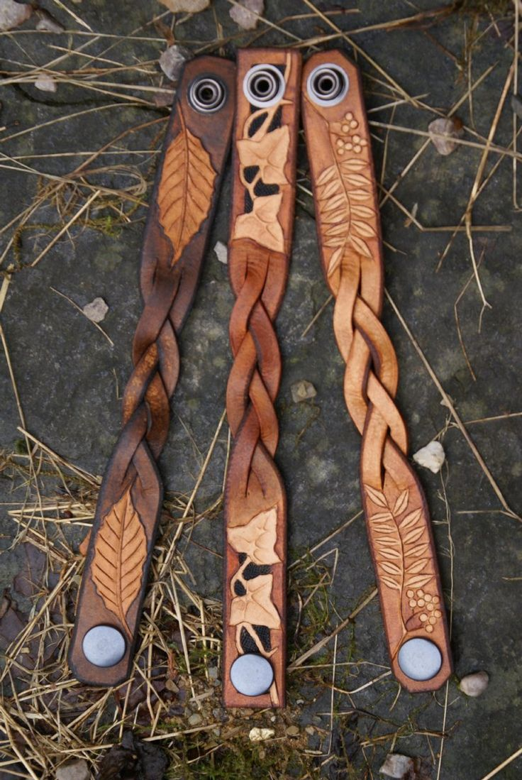 mystery braided wristbands with leafy details