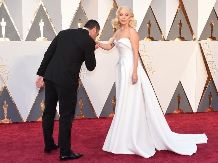 Taylor Kinney and Lady Gaga attend the 88th Annual Academy Awards on February 28, 2016 in Hollywood, California. Picture: AP