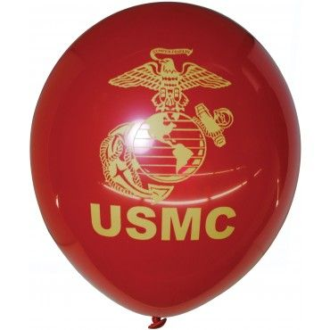 12 Pack of USMC Red Balloons | Party Supplies | Special Events | Sgt Grit - Marine Corps Store