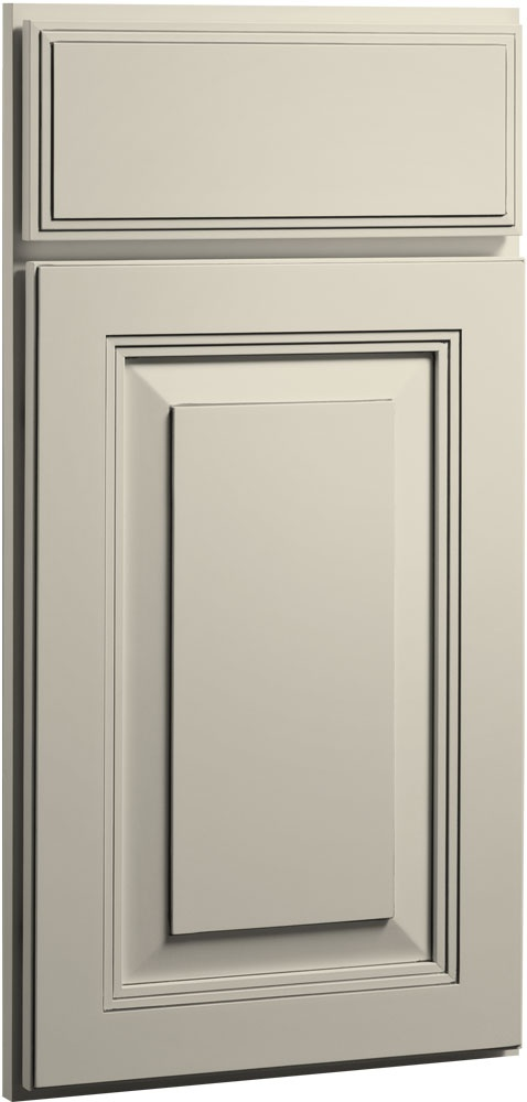 The Carlton Painted Linen Bisque Glaze S Rich Detailing Reflects The Fine Cabinet Door Styleskitchen Cabinet