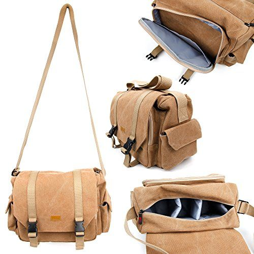 TanBrown Large Sized Canvas Carry Bag  Compatible with the Carphone Warehouse Goji VR  by DURAGADGET *** Details can be found by clicking on the image.Note:It is affiliate link to Amazon.
