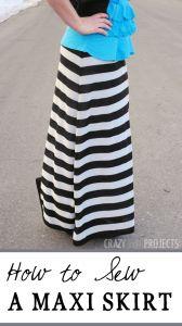 Easy Ruffle Maxi Skirt Tutorial