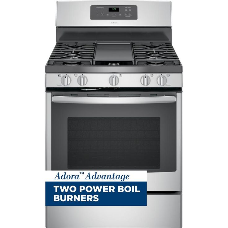 GE Adora 5.0 cu. ft. Gas Range with Self-Cleaning Convection Oven in Stainless Steel-JGB720SEJSS - The Home Depot