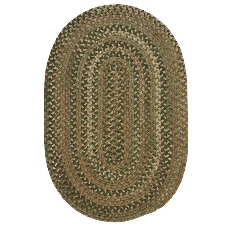 Home Decorators Collection Newport Harbor Green 9 ft. x 12 ft. Braided Oval Area Rug