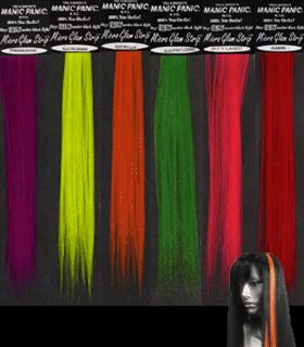 MPSUF15904 - Manic Panic Glam Strips - Blacklight Reactive 8 Micro Hair Extensions