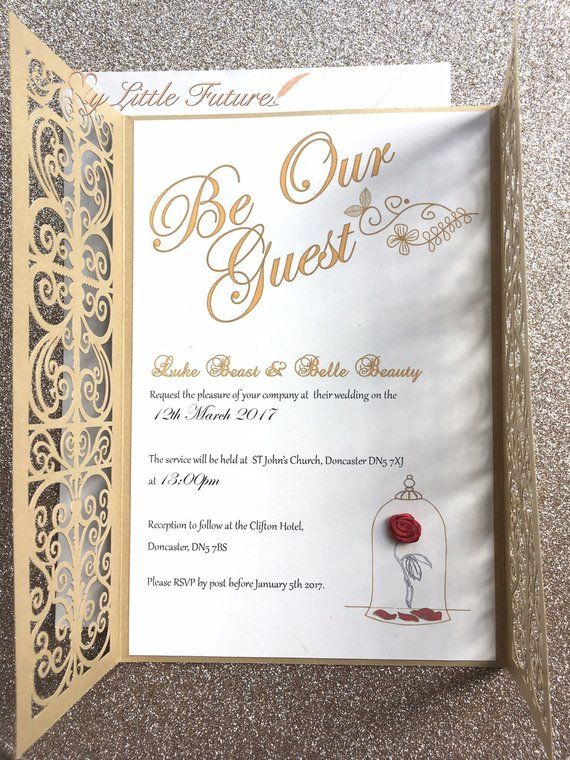 Be Our Guest Wedding Invitation Sample Wedding Pinterest