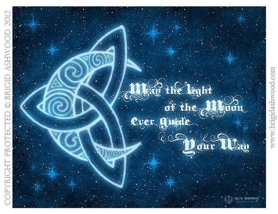 Celtic MoonWay   Pagan Wiccan Print  Brigid Ashwood by BrightArrow, $15.00
