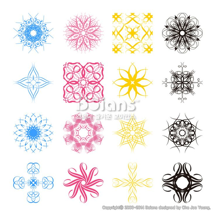 여러가지 스타일의 각진 문양 세트. 오리지널 패턴과 문양 시리즈. (BPTD020147) Diverse styles of square back Symbol Sets. Original Pattern and Symbol Series. Copyrightⓒ2000-2014 Boians.com designed by Cho Joo Young.