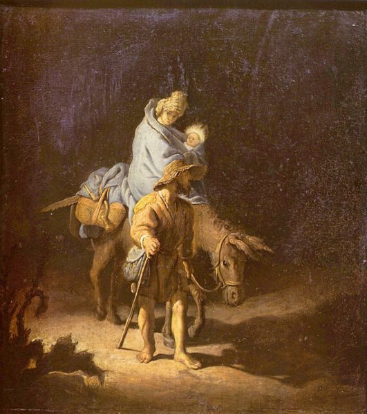 The Flight into Egypt, 1627 - Rembrandt (1606–1669)