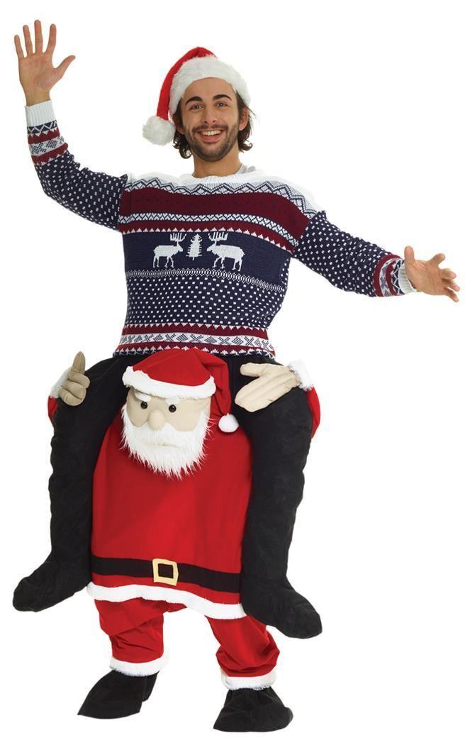 Adult Santa Claus Apron /& Hat Set Fancy Dress Outfit Christmas Xmas Unisex New