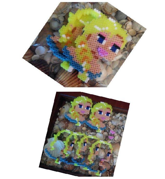 Caja #joyero de #Elsa #Frozen con #hama beads midi #HOWTO #DIY #artesanía #manualidades #reciclaje  vía @seofemenino Caja joyero de Elsa Frozen con hama beads midi