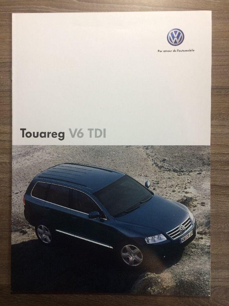 Nice Great VW FRENCH TOUAREG V6 TDi 2004 RANGE CAR BROCHURE. VOLKSWAGEN FRANCE  2017-18