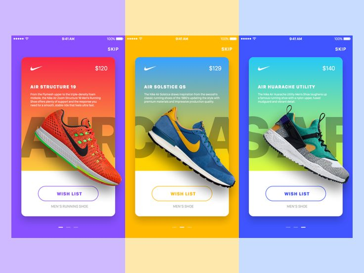Nike In-App Promotions • Sketch FREEBIE by Jardson Almeida