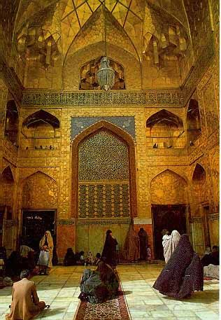 mashhad-haram-imam-reza. Mashad. north eastern of Iran. a shrine that is made of Pure gold. Imam reza is tremendously rich in this area.