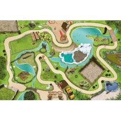 Zoo Wildlife Park Play Mat Game Carpet For The