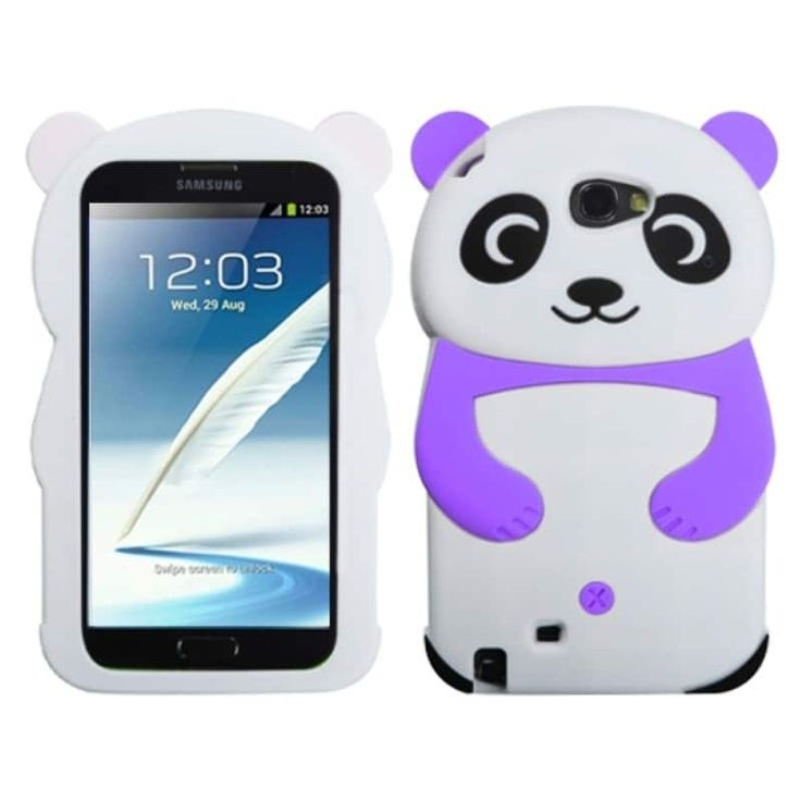 Insten White Panda Hands Case Cover for Samsung Galaxy Note II