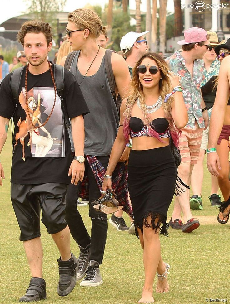 Vanessa Hudgens, Austin Butler au 1er jour du 2ème week-end du Festival de Musique de Coachella à Indio, le 18 avril 2014