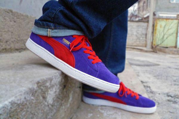 Puma Suede Purple/Red - The Freshandfly