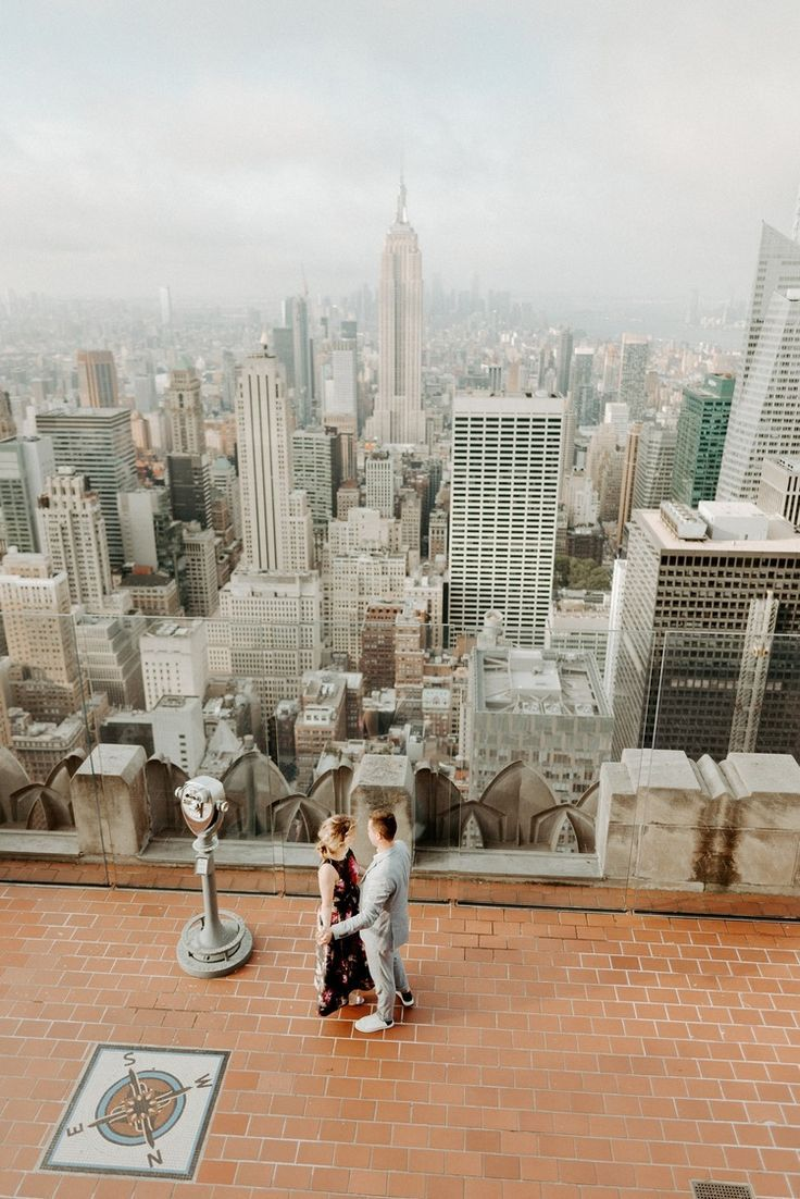 Top Of The Rock Wedding Anniversary Best Nyc Engagement Session Location Anais Possamai Photography Rock Wedding Engagement Photos Nyc City Engagement Photos