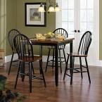 Edge Water Estate Black Wood Windsor Dining Chair (Set of 2)