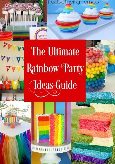 The Ultimate Rainbow Party Ideas Guide - Rainbow parties are great to celebrate birthdays, graduations, promotions, or any excuse to gather friends and family and in this guide you'll discover 25 of the best rainbow party foods, decorations, and favors. Your party is sure to be a colorful hit thanks to these fun ideas!