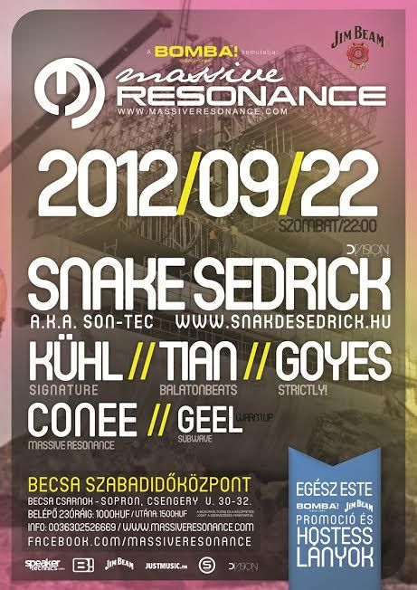 Massive Resonance flyer design anno 2012 by darellart.hu