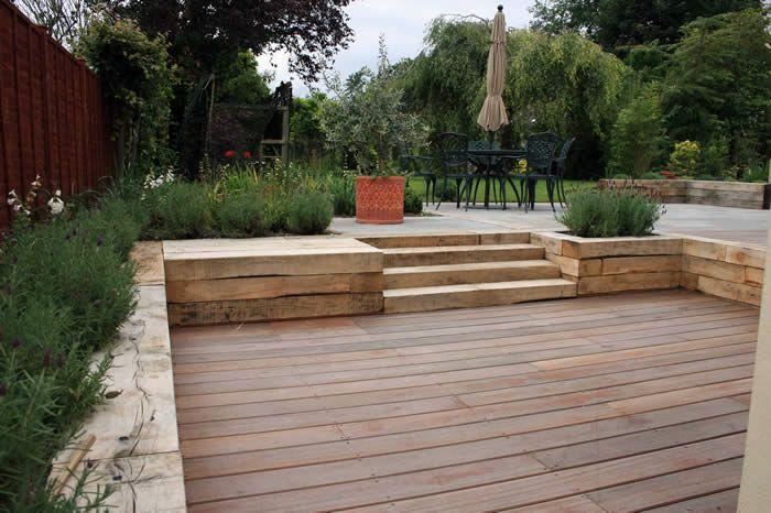 Split level patio home out door rooms pinterest for Split level garden designs